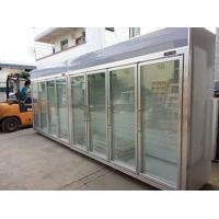 Quality Heater Glass Door Commercial Beverage Cooler For Supermarket / Store Two Layers for sale
