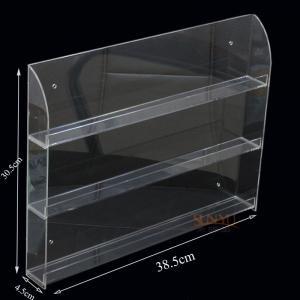 China Three Tier Clear Acrylic Nail Polish Display , Nail Polish Storage Shelf385×305×45 mm wholesale