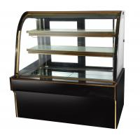 China 2 Layer Black Cake Display Cases Freezer 2m 110v  60hz wholesale