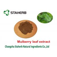 China Mulberry Leaf Pure Natural Plant Extracts 1 - DNJ Active Ingredients 12% Powder on sale