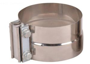 China Aluminized Steel Butt Joint 3 Exhaust Pipe Clamp wholesale