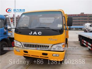 China Hot sale JAC 4x2 small wrecker truck flatbed tow truck for sale wholesale