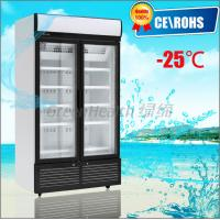China 2 Glass Hinge Door Vertical Freezer , Sliding Glass Door Freezer wholesale