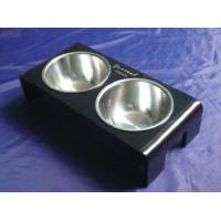 China Rectangle 8mm Ruby Acrylic Pet Bowl Food Feeder For Dog , Cat OEM wholesale