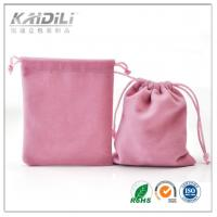 China Lovely Pink Drawstring Jewelry Pouch Recyclable Material For Gift Storaging wholesale