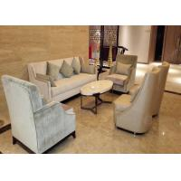 China Antique Style Hotel Lobby Furniture Luxury Sofa Set Center Table For 4 Star 5 Star wholesale