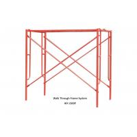 China Painted construction scaffolding h frame / door frame for Building ,Yard wholesale