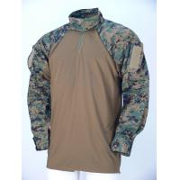 China Breathable Wear Resistant Desert Camo Tactical Combat Shirt Woodland For Military wholesale