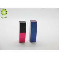 China Square Blue Red Color Aluminium Empty Magnetic Lipstick Tube Container 3g 5g on sale