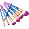 China Spiral Shape 7 Pcs Cosmetic Brush Set , Multicolour Portable Makeup Brush Set wholesale