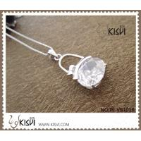 Quality OEM / ODM shiny and clean silver gemstone pendant with competitive price for sale