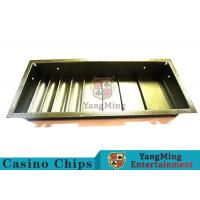 China Poker Table Dedicated Poker Chip Case Iron Metal With 4 Square Shape Row wholesale