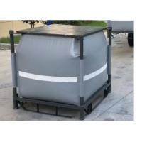 China Grey Recycled PVC Liquid Jumbo Bag Stainless Steel Pallet Available 1 Ton / 1000L wholesale