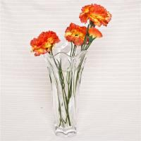 China Home decorative floral rim glass vase handmade thick glass flower vase wholesale