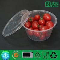 China Food grade Take Away Plastic Soup Bowl, Salad container 450ml on sale