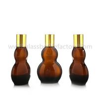Buy cheap 30ml and 50ml New Model Double Calabash Amber Essential Oil Bottles With Gold from wholesalers