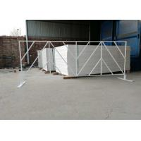 Buy cheap Pvc Coated Square Tube 25X25MM Remove Event  Road Barrier 0.7X1.5Meter from wholesalers