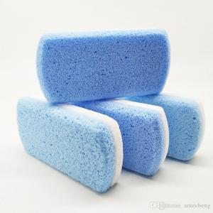 China double color Foot Pumice Sponge Stone Foot Callus Exfoliate Hard Skin Remove Pedicure Scrubber Feet Pumice Stone Pedicur on sale