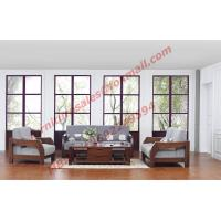 China Solid Wood Sofa with Upholstery for Luxury Living Room Made in China wholesale