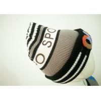 China Acrylic Stripe Warm Baby Boy Knitted Hats , Computer Knitted Hats For Children wholesale