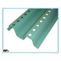 China Green u channel 12 foot metal fence posts with tapered ends for orchard construction on sale