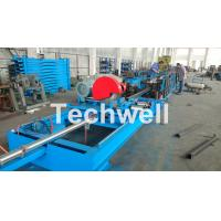 China Step Beam Rack Roll Forming Machine With Welding Line , Servo Flying Saw Cutting Device wholesale