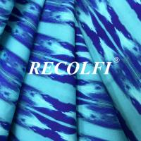 China Printing Color Warp Knitted Fabric , Yoga Pants Material Premium Stretch Fiber on sale