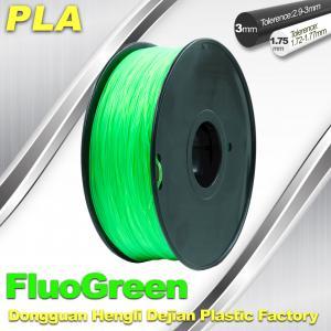 China 1.75 / 3mm PLA Fluo - Green Fluorescent  Filament for RepRap , Cubify wholesale