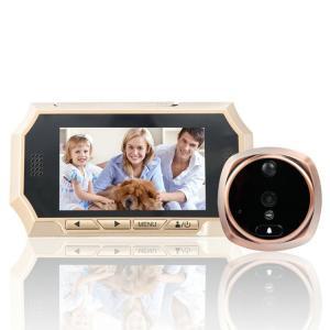 "Quality 4.3"" Digital Door Peephole Viewer Photo Video Camera Recorder Night Vision Door Eye Smart PIR Doorbell Intercom System for sale"
