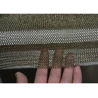 China Golden Colour Welded Chainmail Cutting Glove For Safety , Chainmail Kitchen Glove wholesale