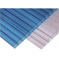 China Car Parking Roof Twin Wall Hollow Sheet Polycarbonate Sheet High Light Transmission on sale