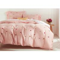 China Cute Embroidered Modern Duvet Covers / Shams 4 Pcs 100% Cotton For Home wholesale