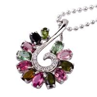 China Fashion design and shiny crystal silver gemstone pendant K-BC-C773 with low price wholesale
