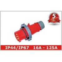 China IP67 IP44 125A 63A 32A 16A 3 Phase Pin and Sleeve Plug for Industrial Power 110~400V wholesale