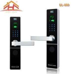 China Keypad Biometric Fingerprint Door Lock With Electroplating And Polishing Finish wholesale