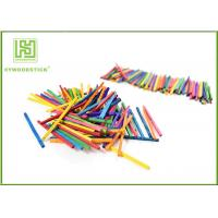 China Multi - Color Math Wooden Counting Sticks , DIY Tools Mini Craft Sticks For Child wholesale