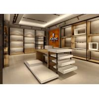 China Handbag Showroom Display Cases White Wooden Plus Veneer Stainless Steel Material wholesale