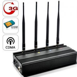 Quality Vehicle Mounted Desktop 4 Antenna Mobile Phone 3G GSM CDMA Jammer W/ 10 Watt & for sale