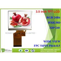 3.5 inch 320x240 RGB 54pin TFT LCD Screen,IC:HX8238D,With Option Touch Panel
