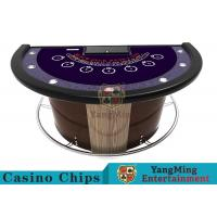Quality Stainless Steel Fender Half Round Poker Table For Blackjack Gambling Game for sale