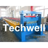 China 0.8 - 1.5mm Steel Metal Floor Decking Sheet Roll Forming Machine For Roof Floor Deck wholesale