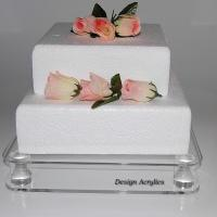 Quality Transparent Acrylic Bakery Display Case Simple Design 5mm Thick Cake Display for sale