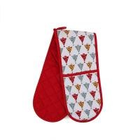 Buy cheap Custom Long Cotton Microwave Oven Mitts Christmas Theme For Hand Protection from wholesalers