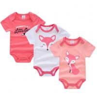 China Short Sleeve Newborn Baby Girl Clothes Gift Sets With Envelope Neck Cartoon Pictures wholesale