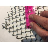 China Light Weight Conventional Wire Mesh Conveyor Belt / Chain Link Fencing wholesale