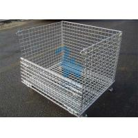 China Fireproof Wire Mesh Storage Cages Containers For Hardware Tools 1500kgs Loading Capacity wholesale