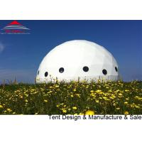 Buy cheap Customized Galvanized Steel Tube Geodesic Dome Tent For Event Diameter 20m from wholesalers