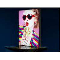 China Double Sided Tabletop LED Backlit Light Box Waterproof With Round Corner wholesale