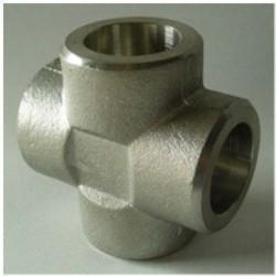 China Cross Tee Forged Steel Fittings, ASTM B564 Nickel Alloy flangeolet , weldolet , reduce tee , elbow , cap , tee wholesale