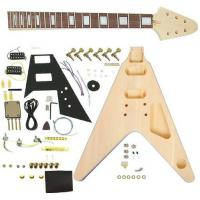 China Flying V Style DIY Electric Guitar Kits Semi Finished Guitar Kit AG-FV1 wholesale